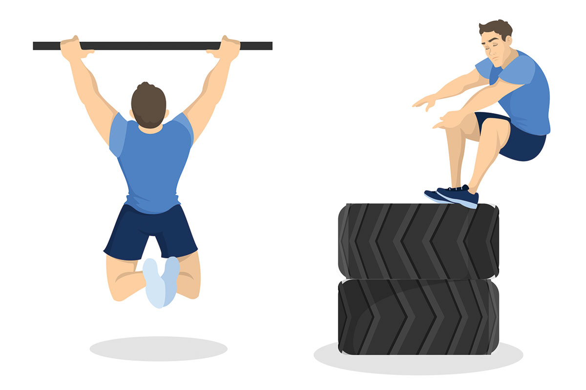 Тренировка кроссфит —А