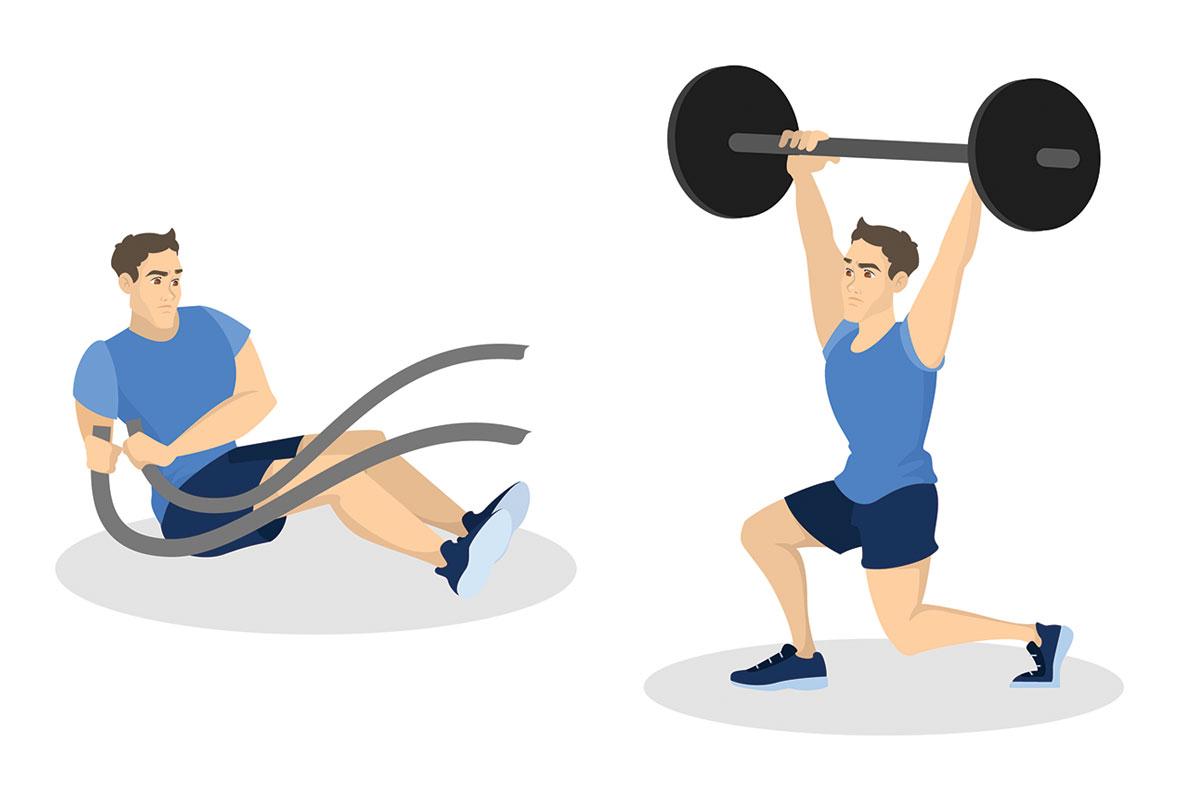 Тренировка кроссфит —В