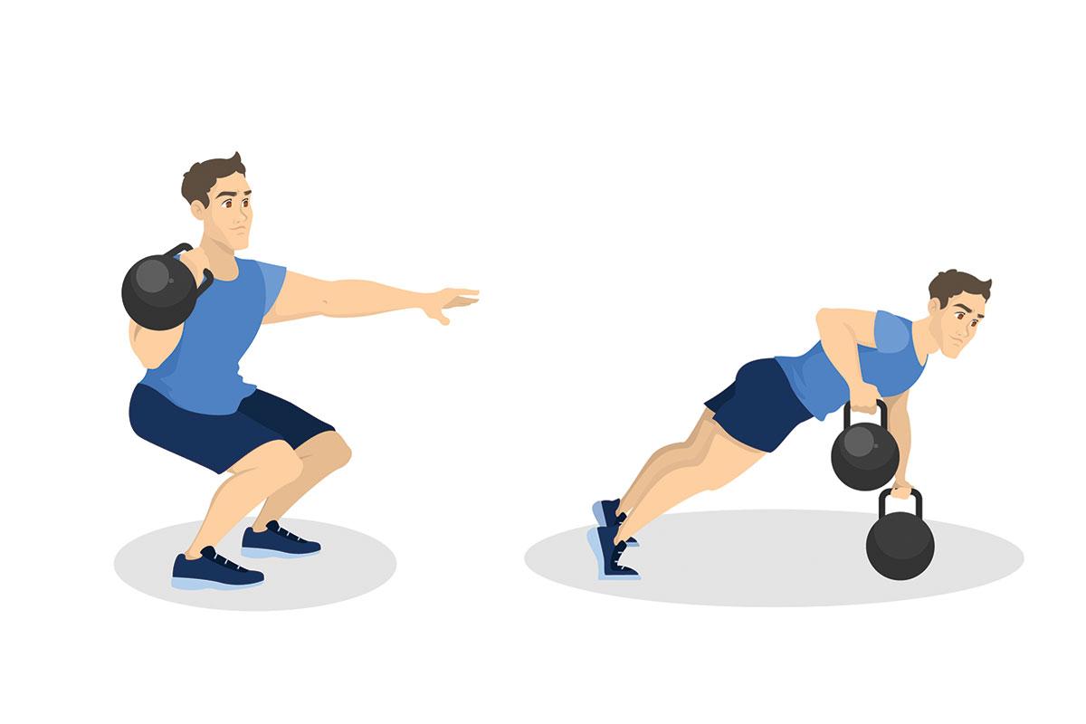 Тренировка кроссфит —С