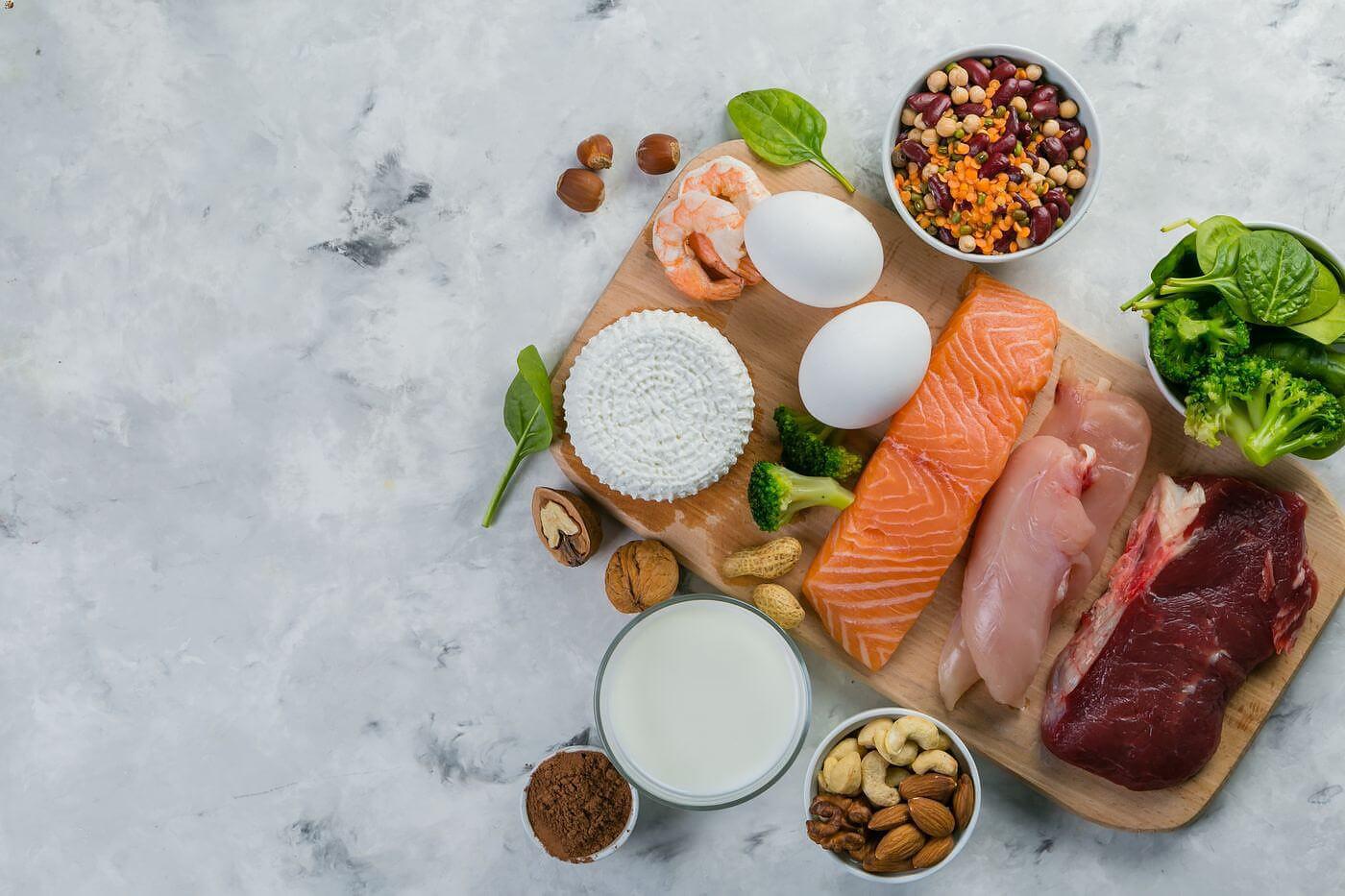 В каких продуктах много белка?