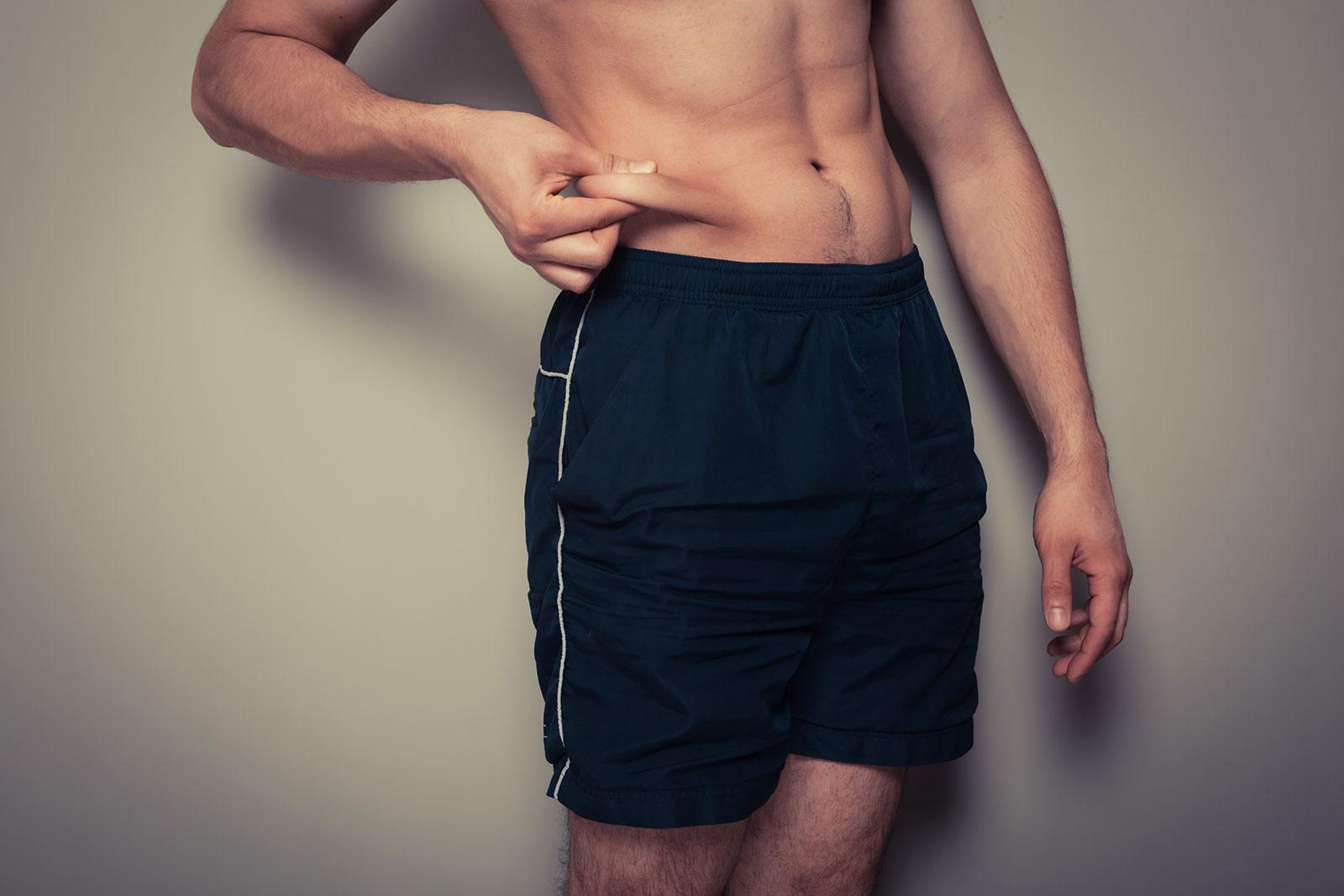 Подкожный жир на животе