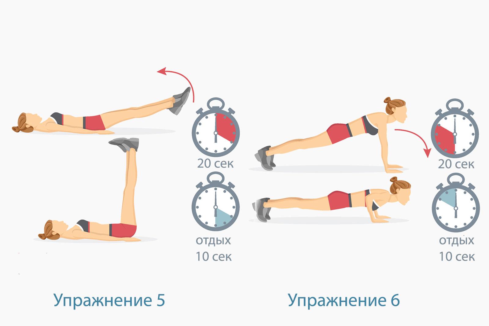 Программа тренировок Табата — упражнение 3