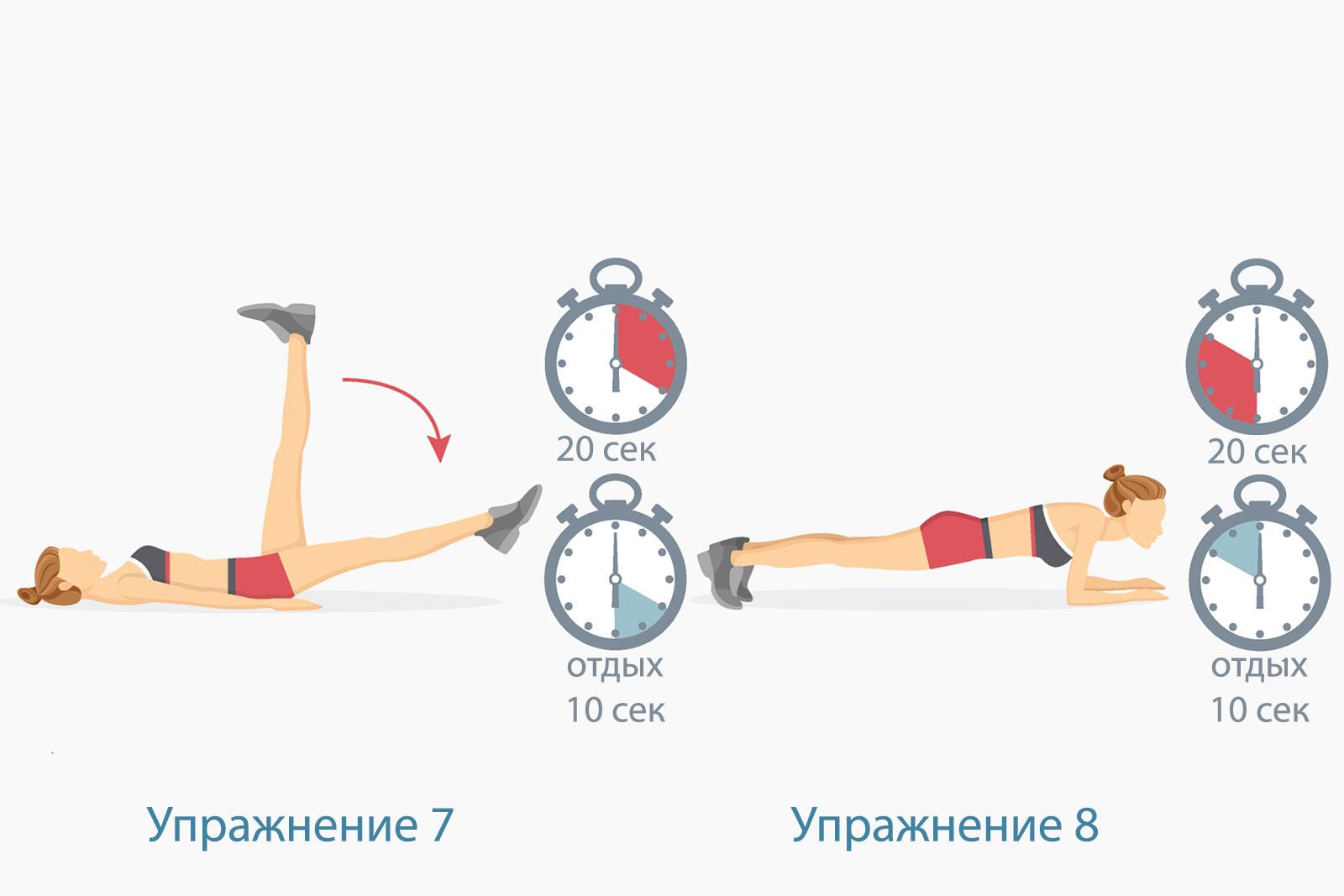 Программа тренировок Табата —упражнение 4