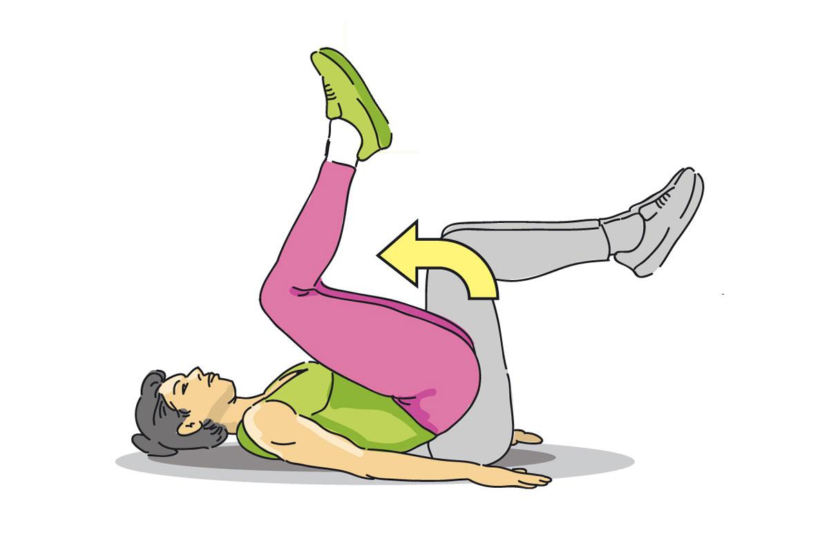 Подтягивания коленей к груди