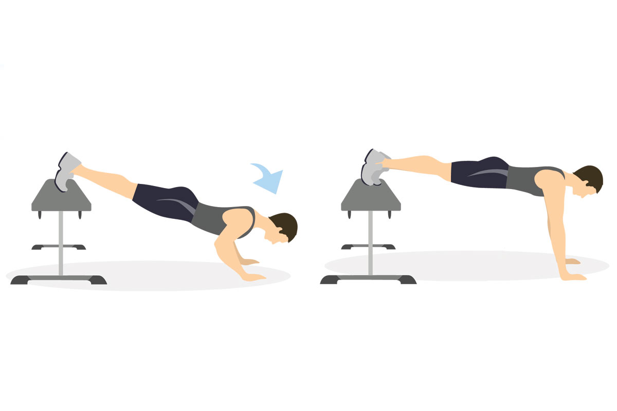 Push ups with stand