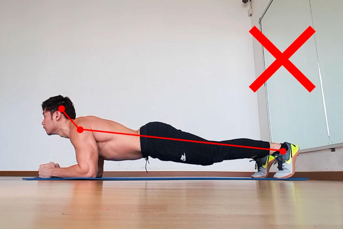 Упражнение планка - ошибки техник