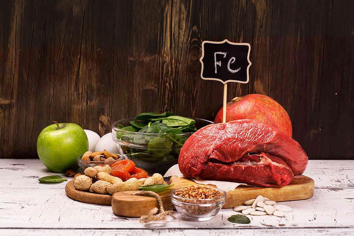 Содержание железа в продуктах