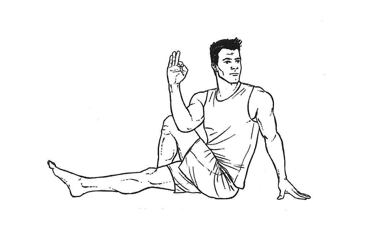 Методика Берга —асана Ардха матсиендрасана (поза скручивания спины)