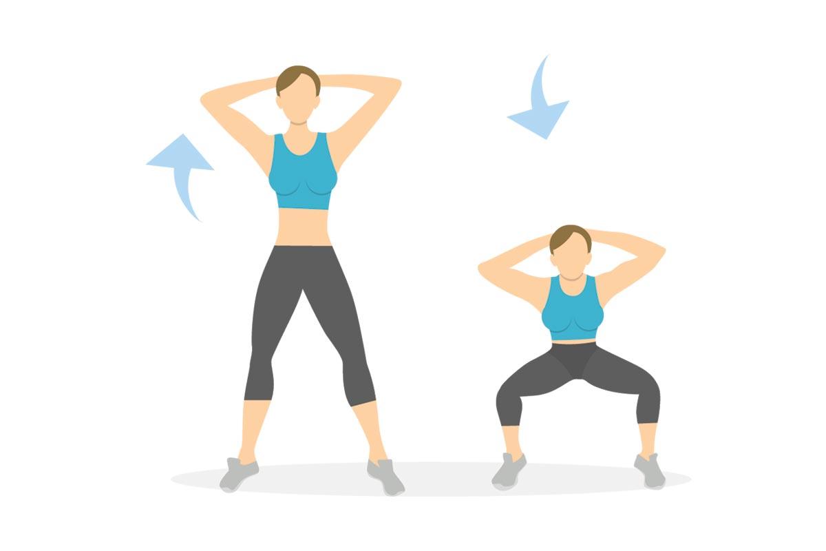 Приседания с весом тела