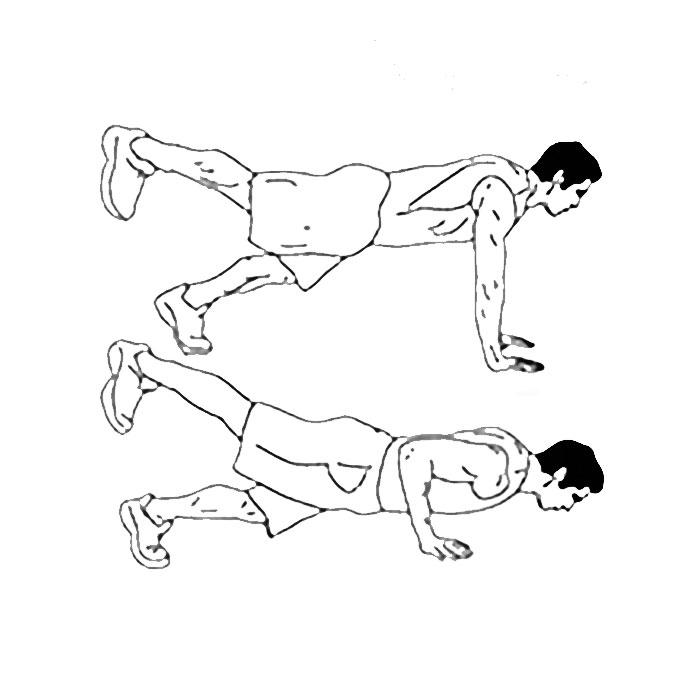 Отжимания с поднятием ног