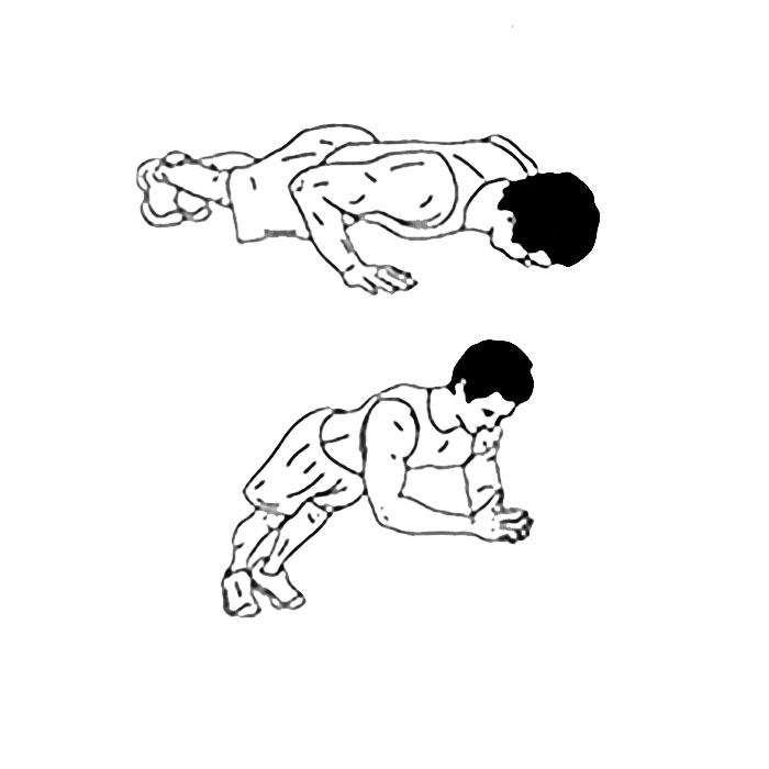 Отжимания с хлопком руками
