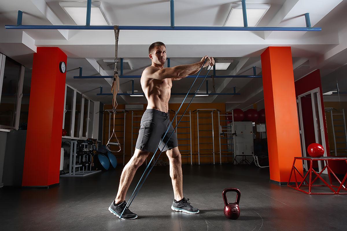 Тренировка с резинками для мужчин