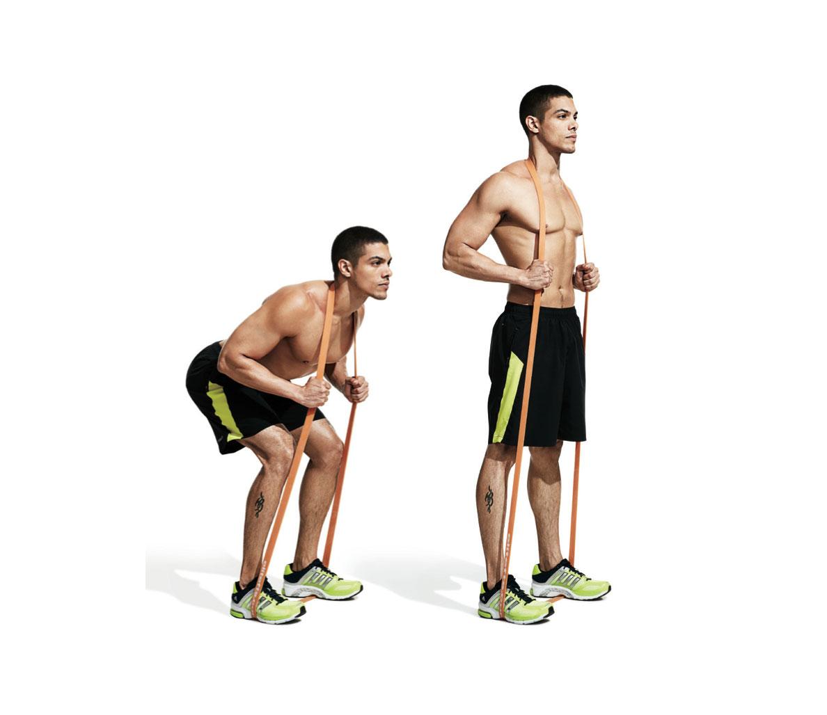 Упражнения с резинками на поясницу