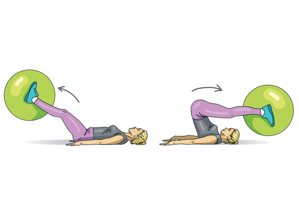3. Подъемы ног