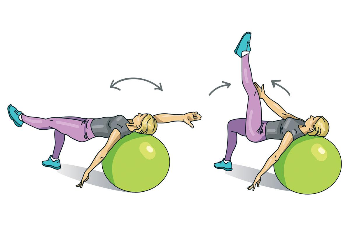 5. Попеременный подъем ног