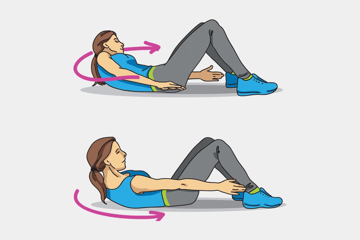 Упражнения, чтобы убрать бока —боковые скручивания