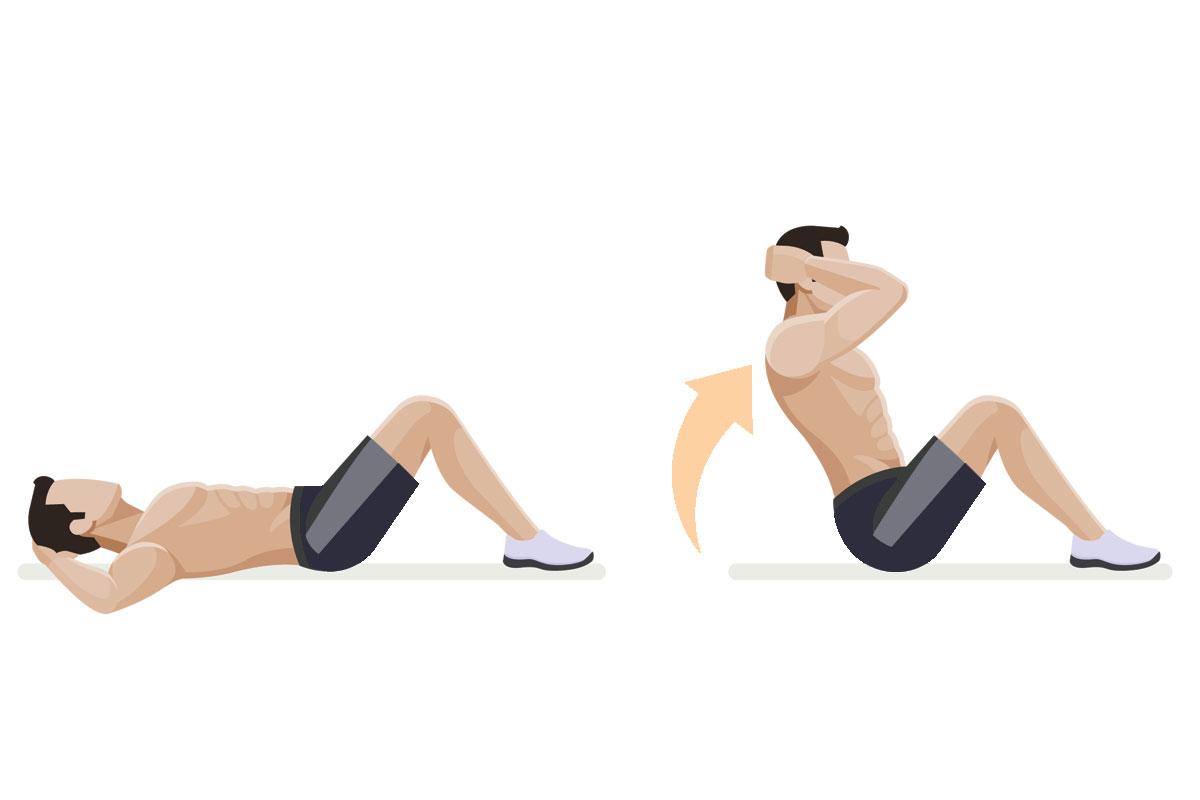 Упражнения для мышц живота —скручивания