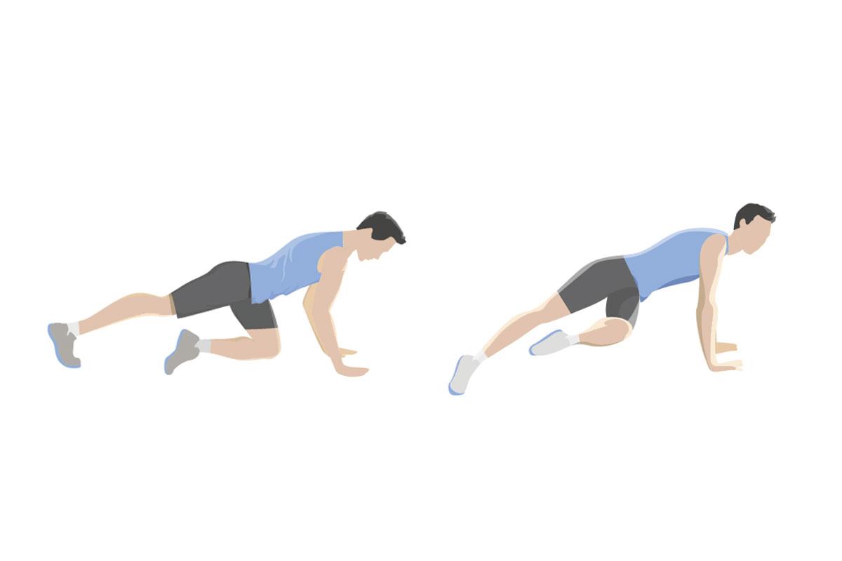 Упражнения для мышц живота — поворот ноги в планке
