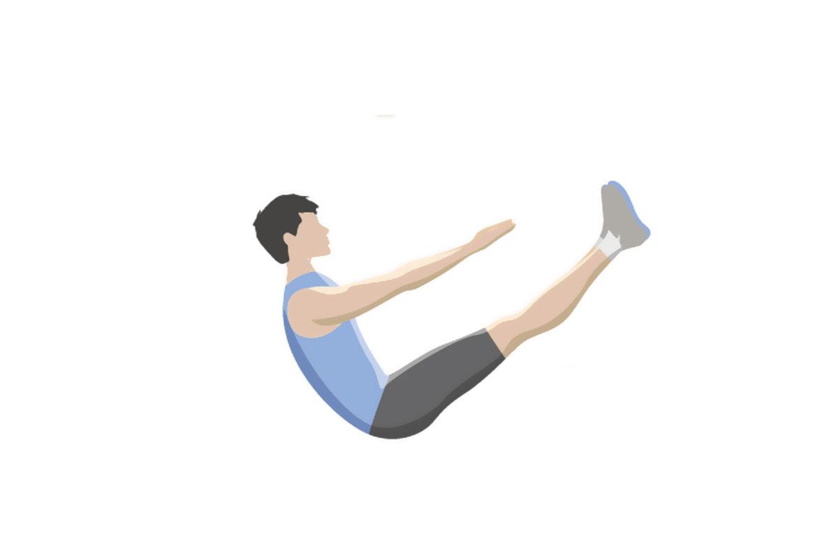 Упражнения для мышц живота — лодочка