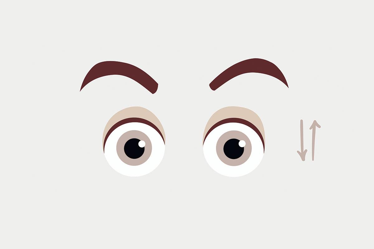 Упражнения для глаз —вращение