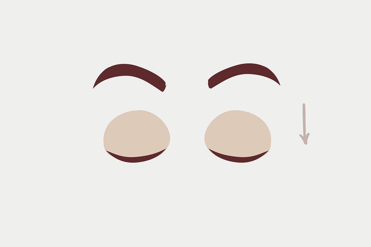 Упражнения для глаз —взгляд вниз