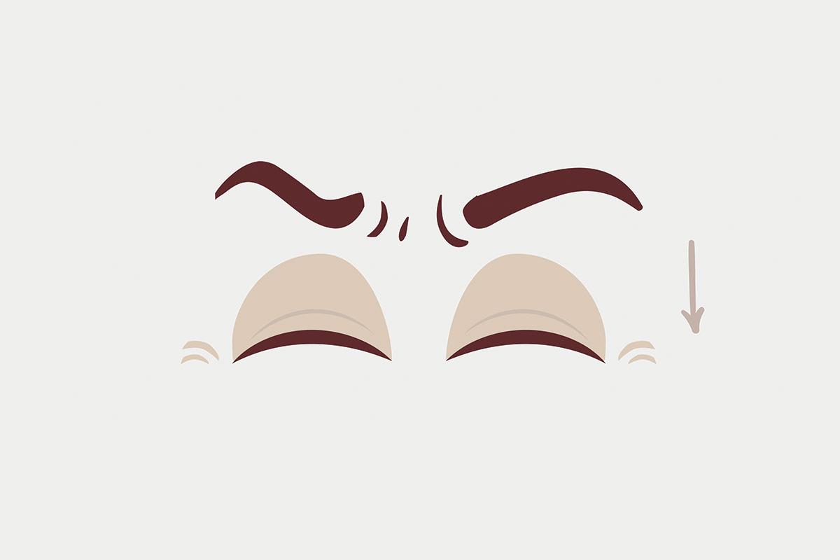 Упражнения для глаз —закрытие с напряжением