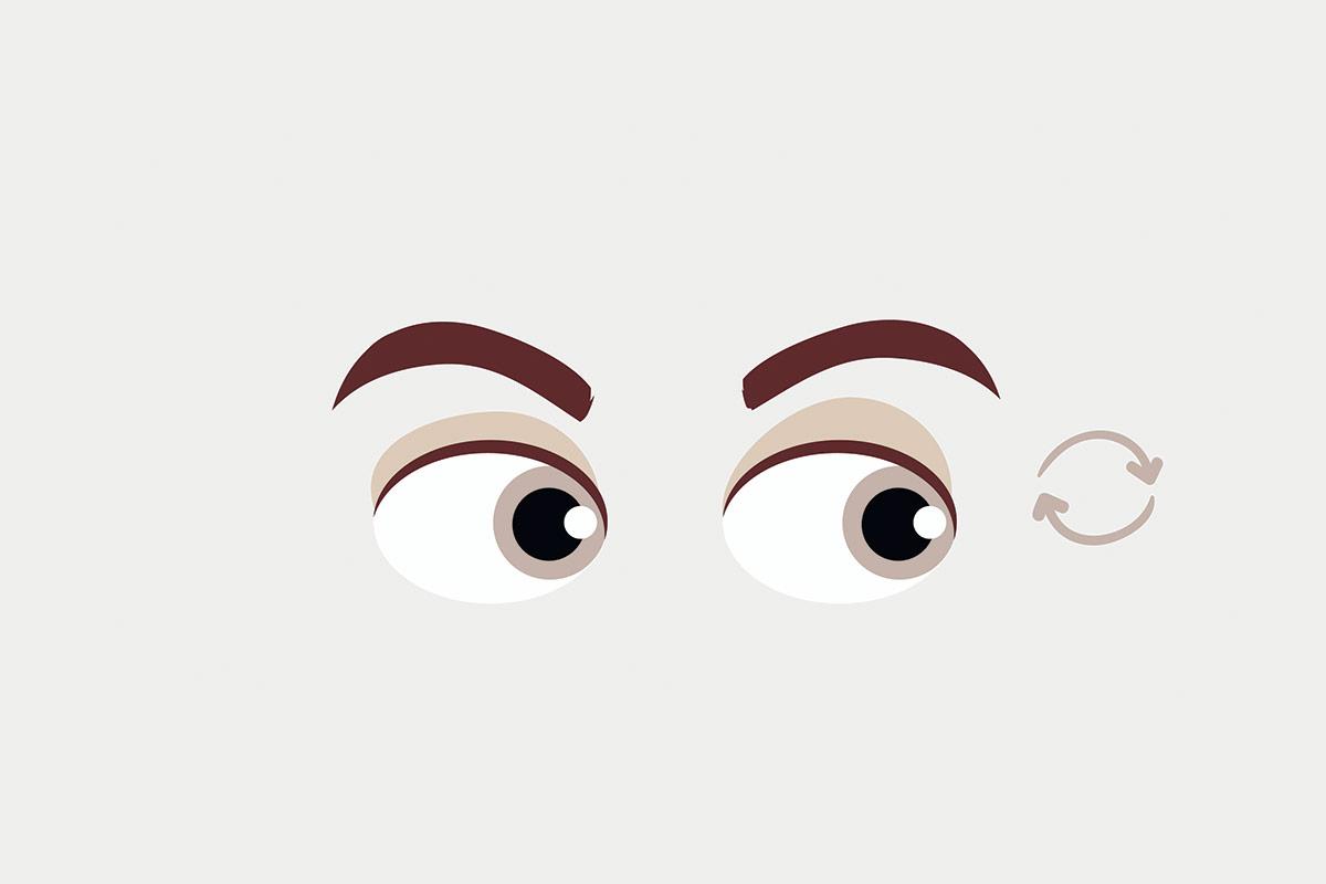 Упражнение для глаз —вращение