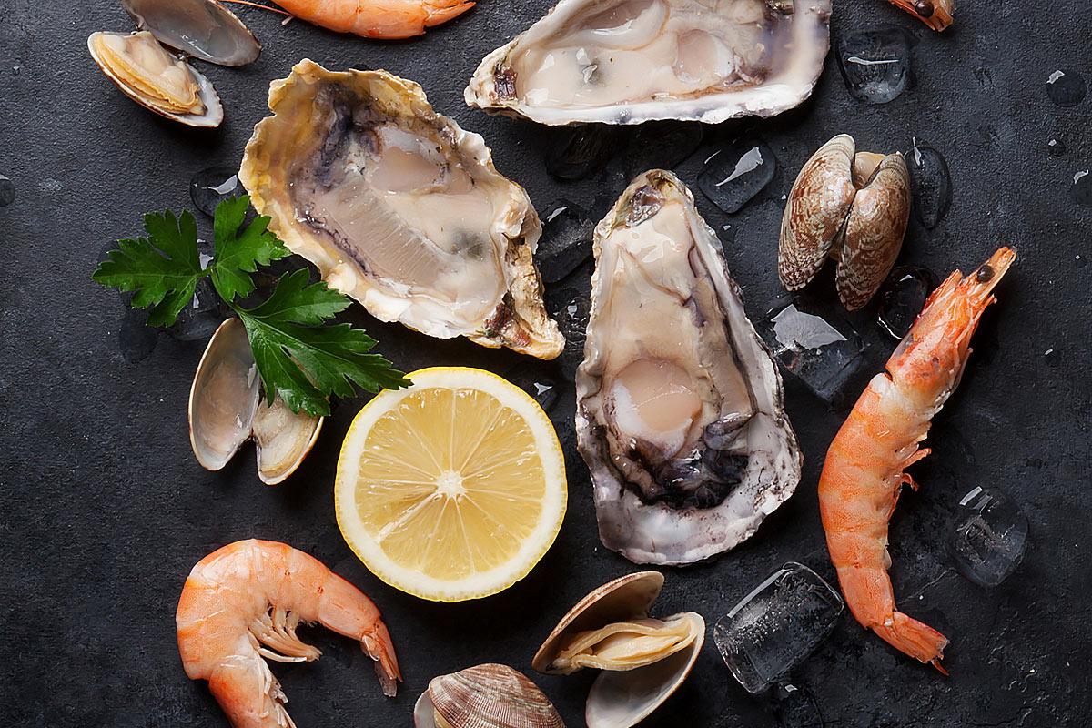 Еда, богатая цинком —морепродукты