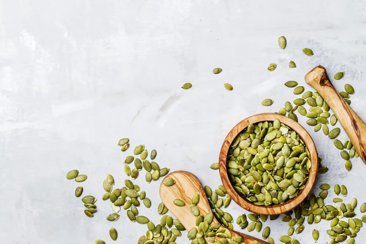 Богатые цинком продукты — тыквенные семечки