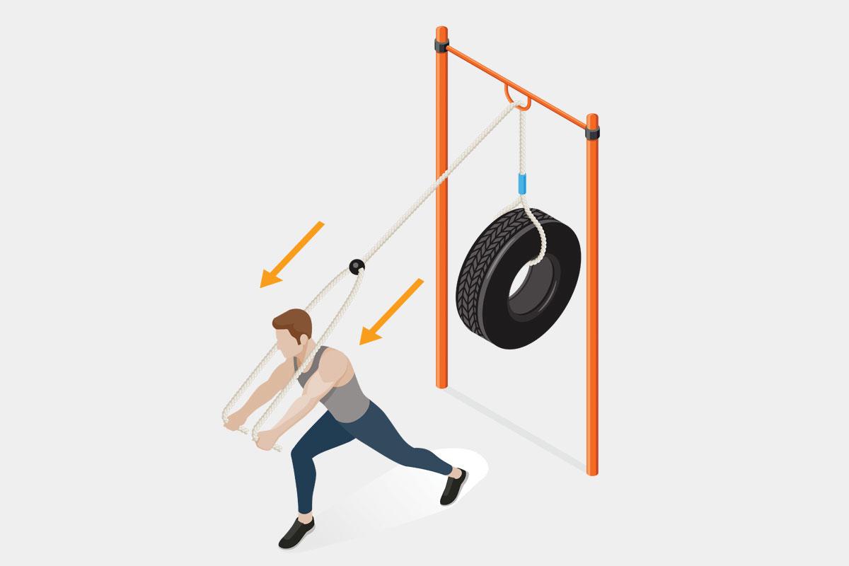 Упражнения на спину на улице —вертикальные жимы