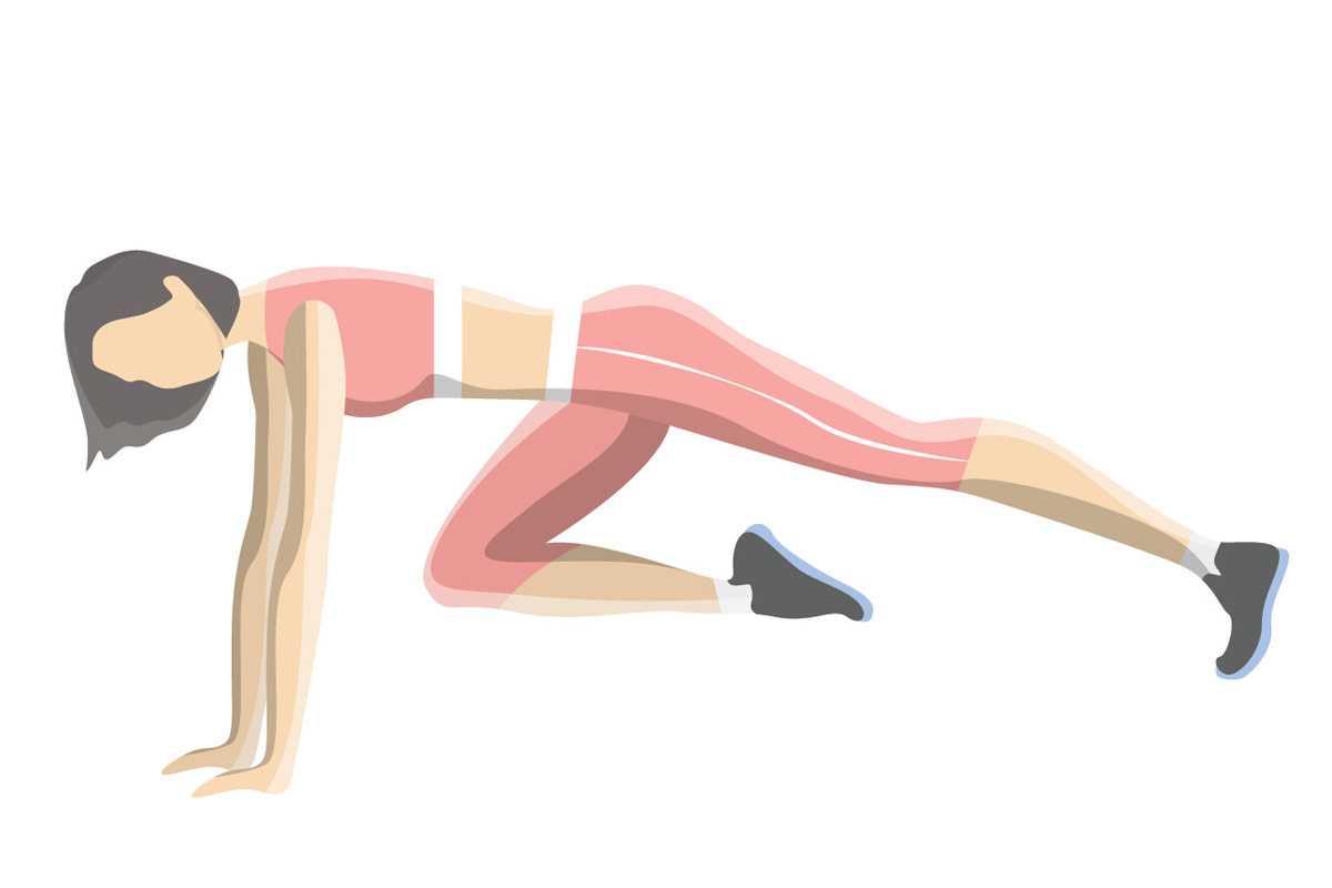 Упражнения на пресс —Альпинист