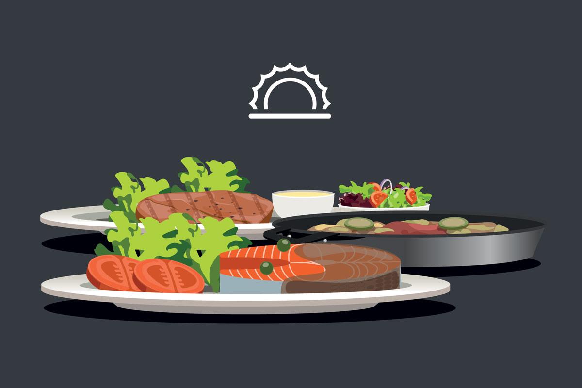 Калории на обед и ужин