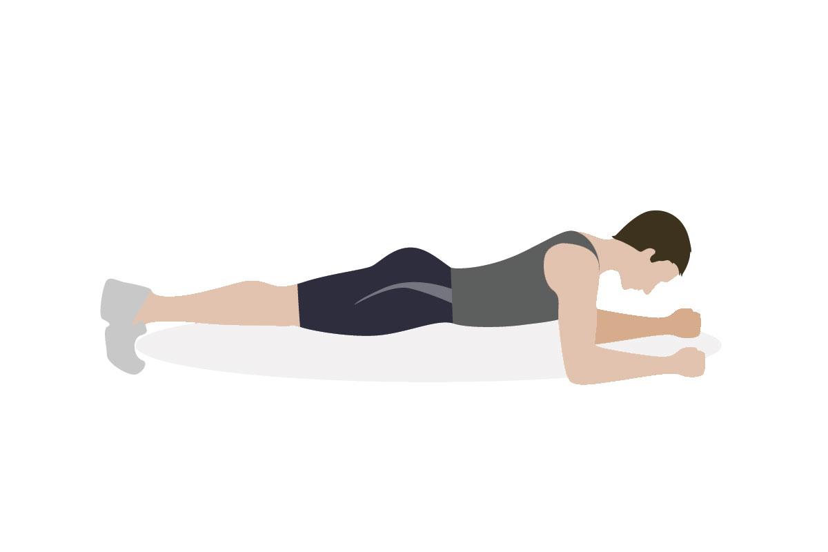 Тренировки для подростка —упражнение планка