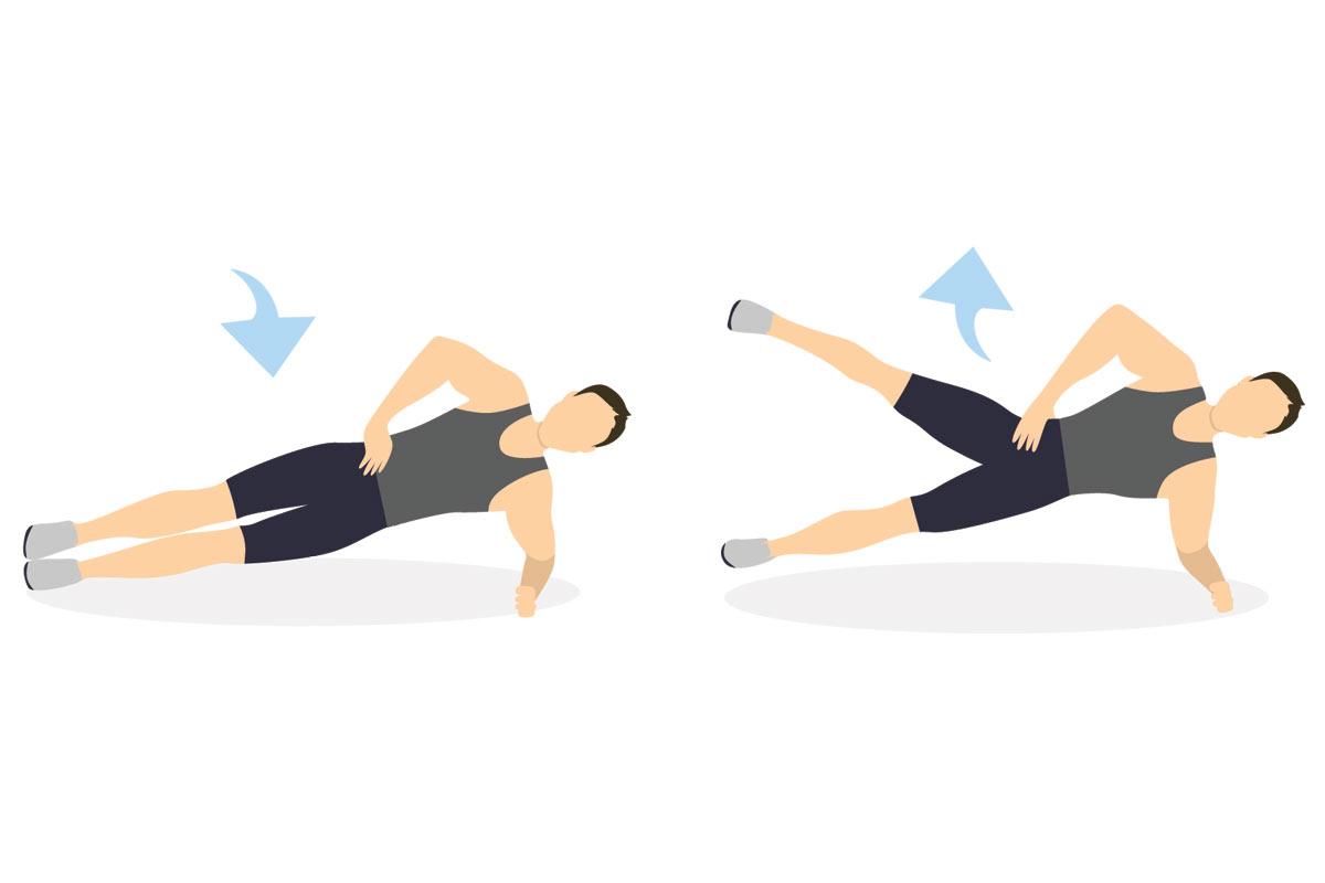 Упражнения для подростков —боковая планка