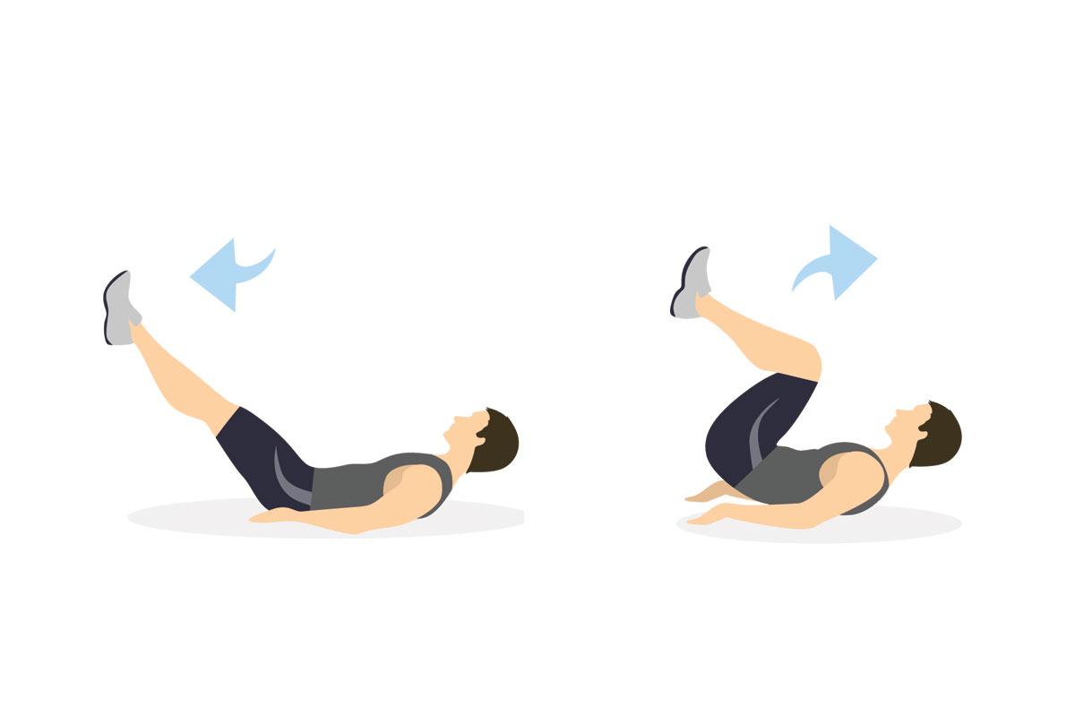 Упражнения для подростков —обратные скручивания