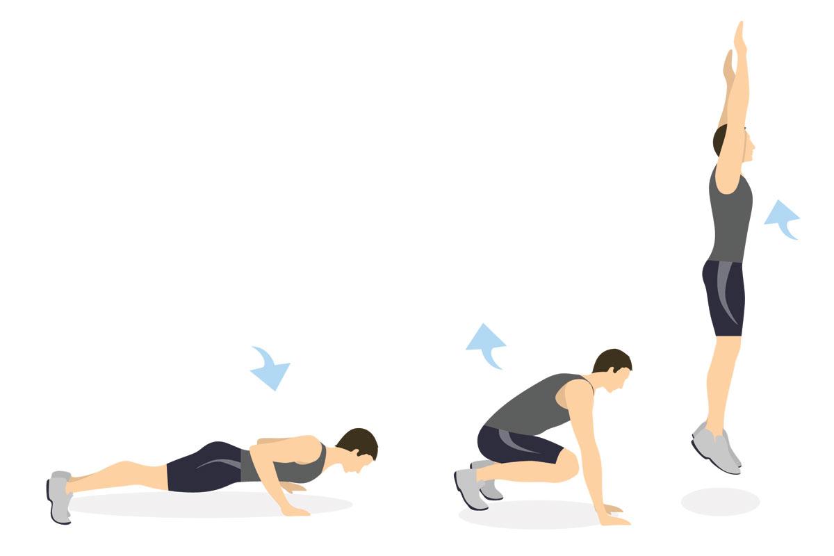 Упражнения для подростков —бёрпи