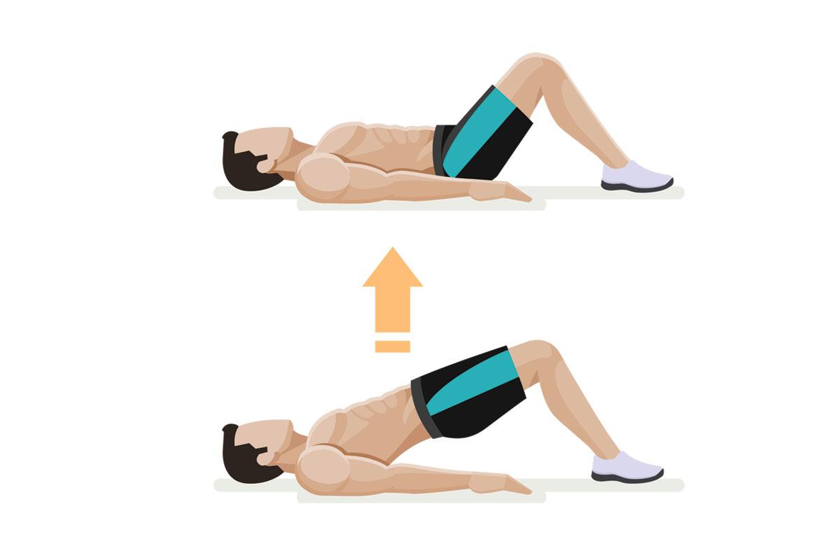 Упражнения для подростков —подъем таза лежа