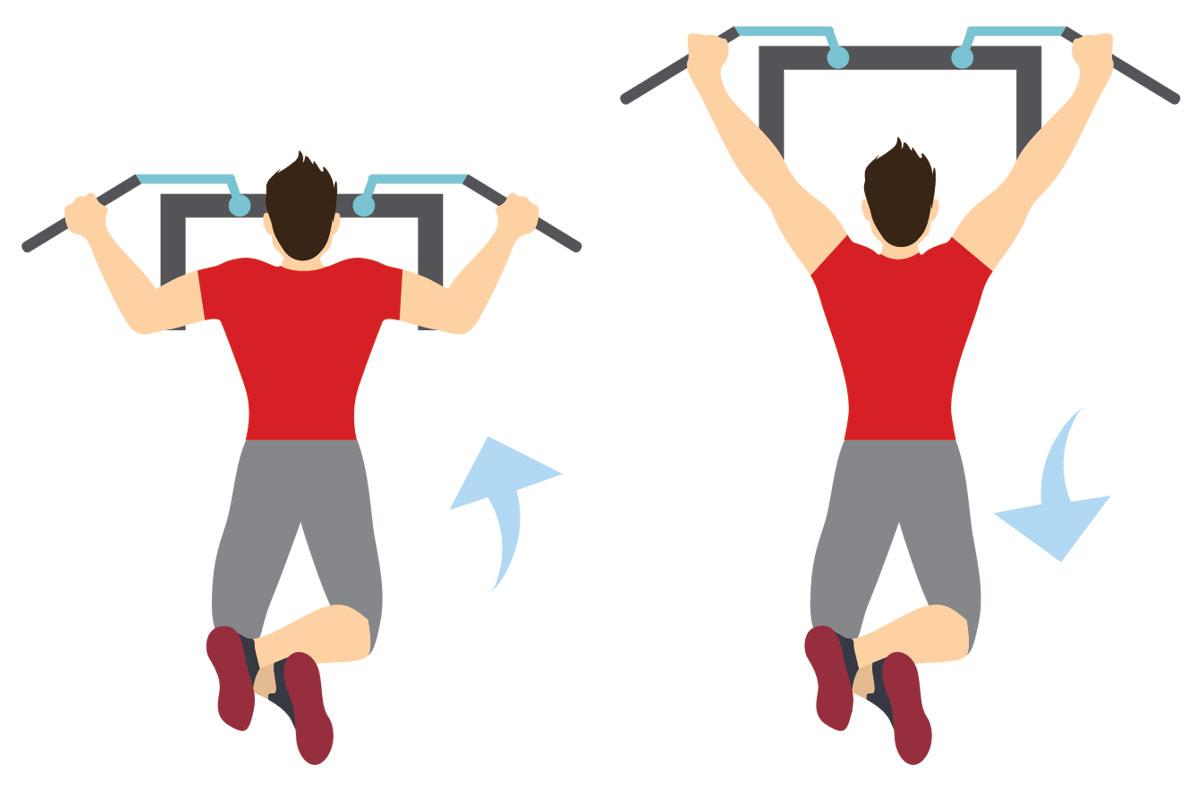 Упражнения для подростков —подтягивания