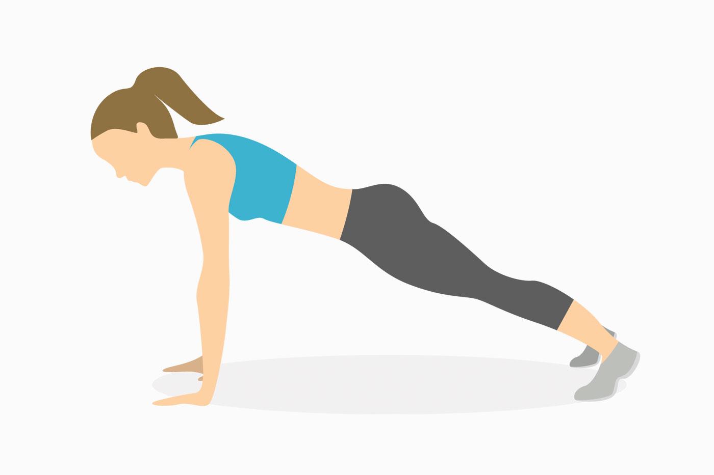 Упражнения для рук —планка