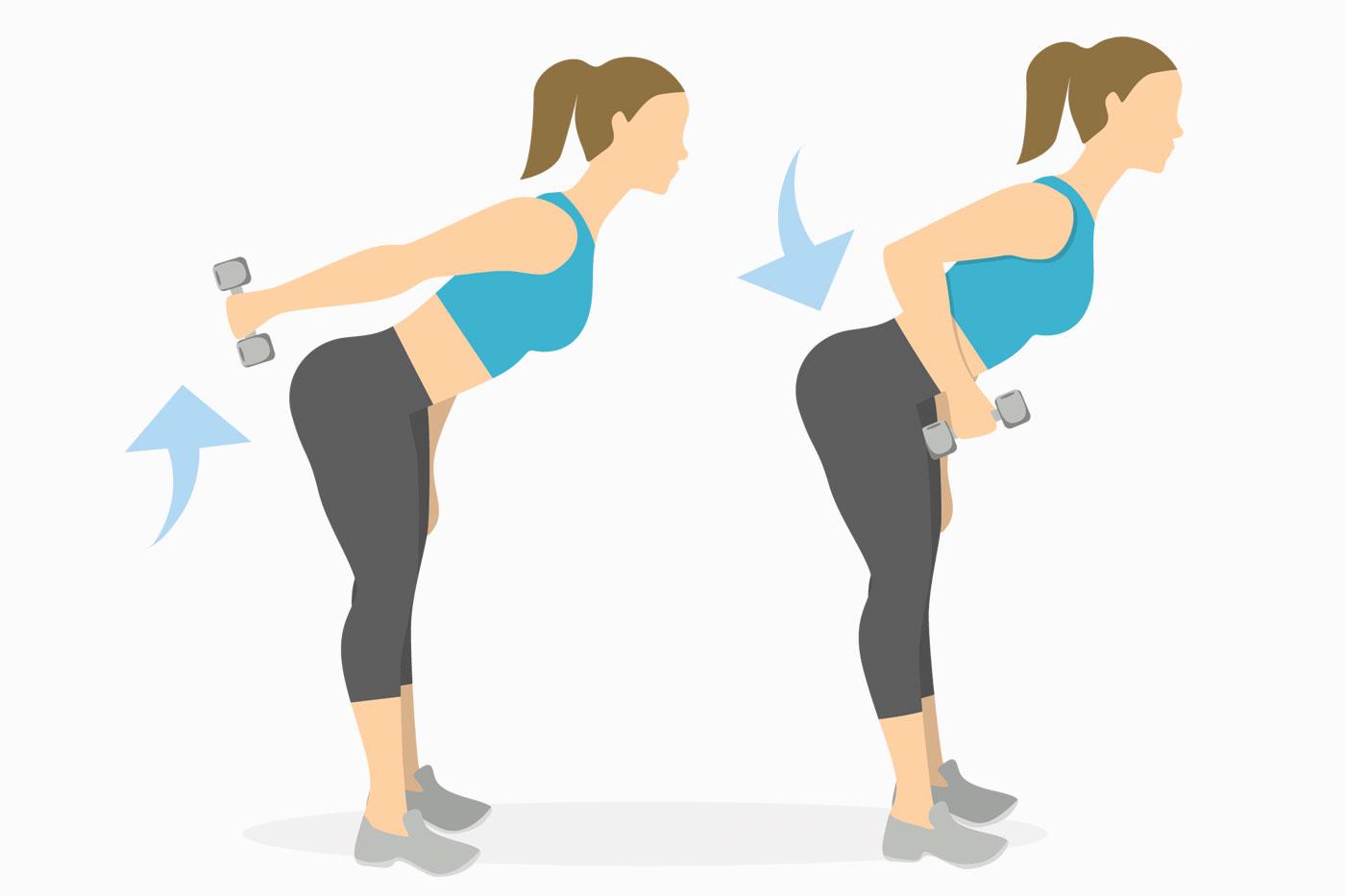 Упражнения для рук —разгибания на трицепс