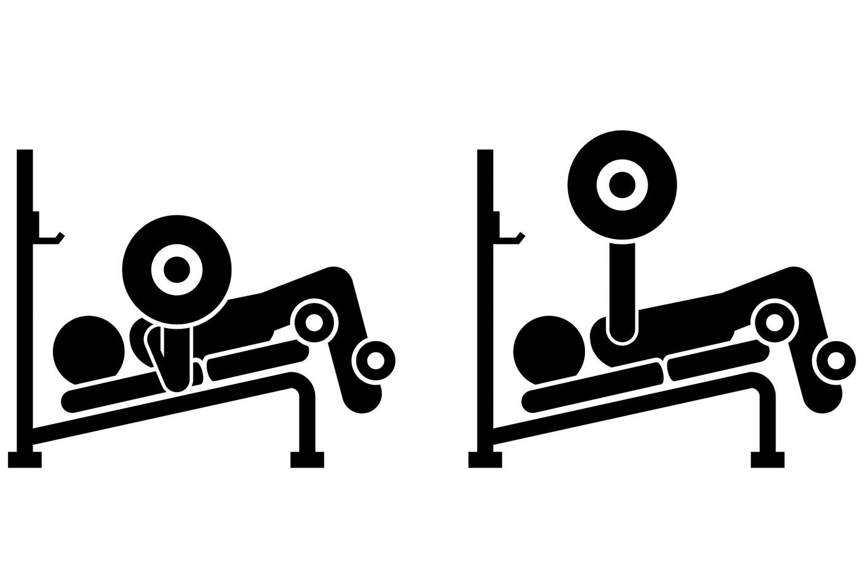 Упражнения на нижнюю часть груди —жим лежа