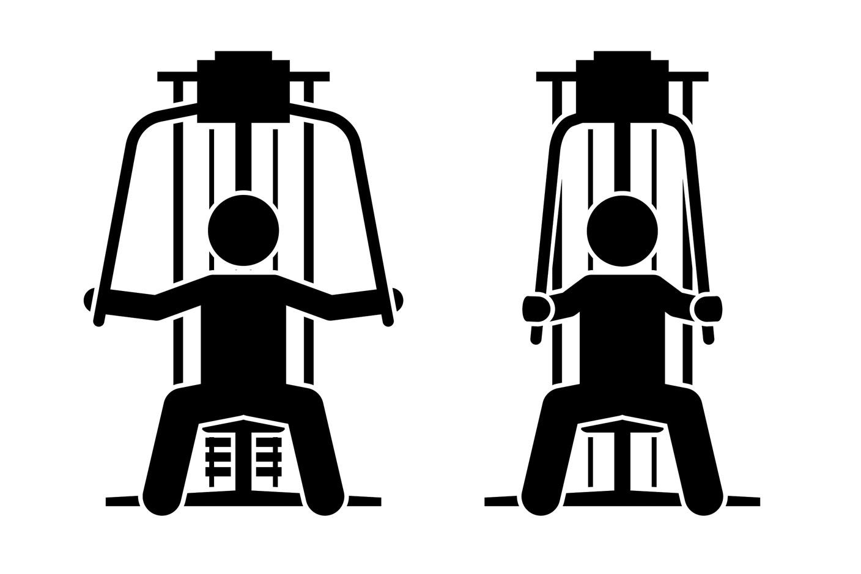 Упражнения на нижнюю часть груди —сведения в тренажере