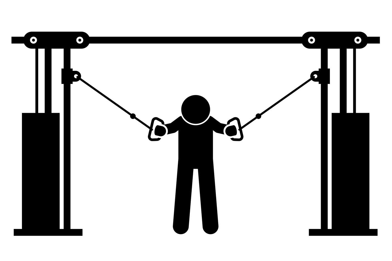Упражнения на нижнюю часть груди –сведения на блоках