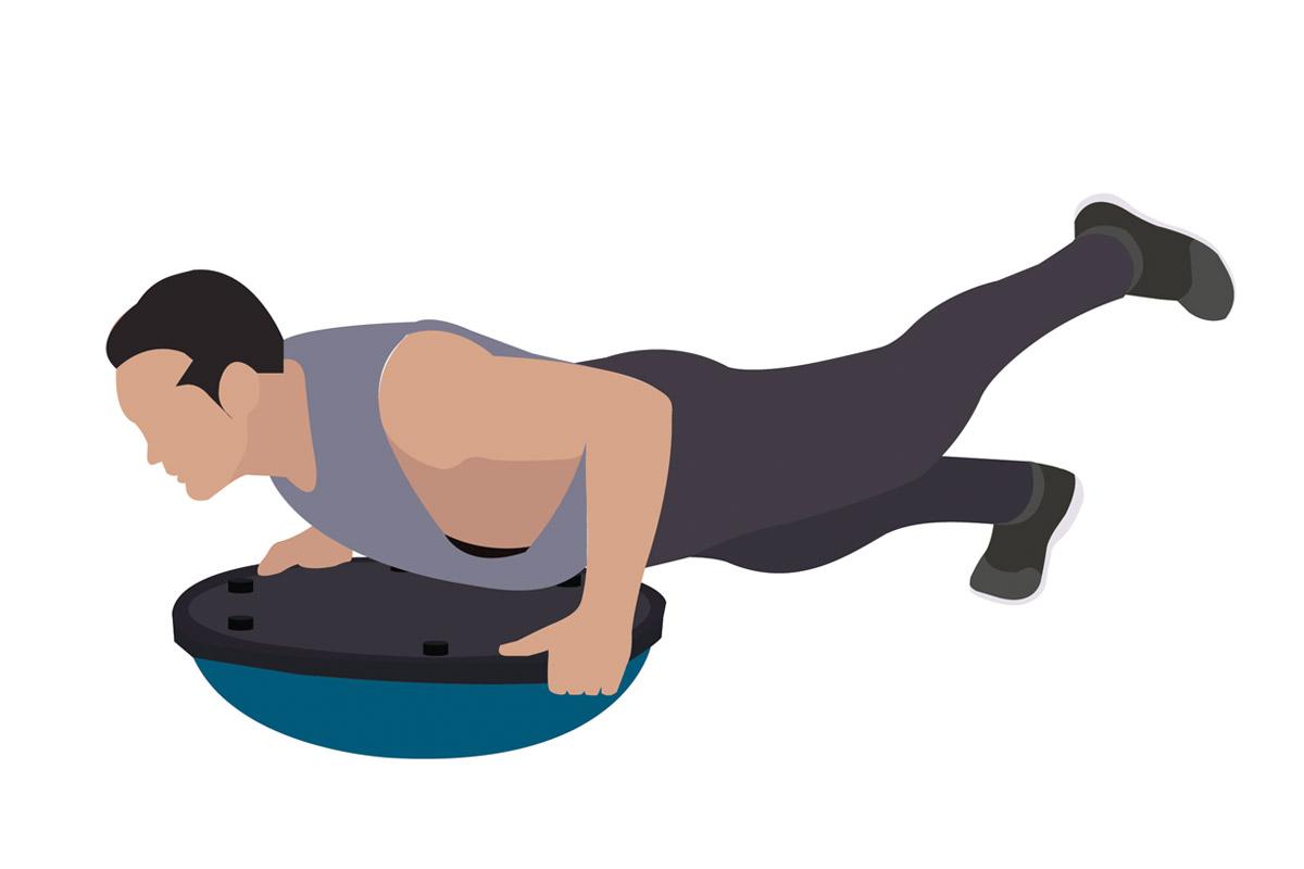 Функциональные упражнения —планка с подъемом ноги