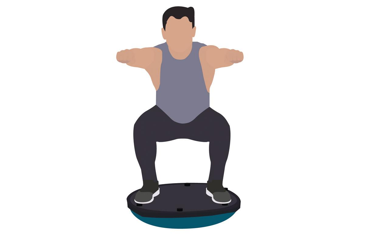 Функциональные упражнения —статические приседания