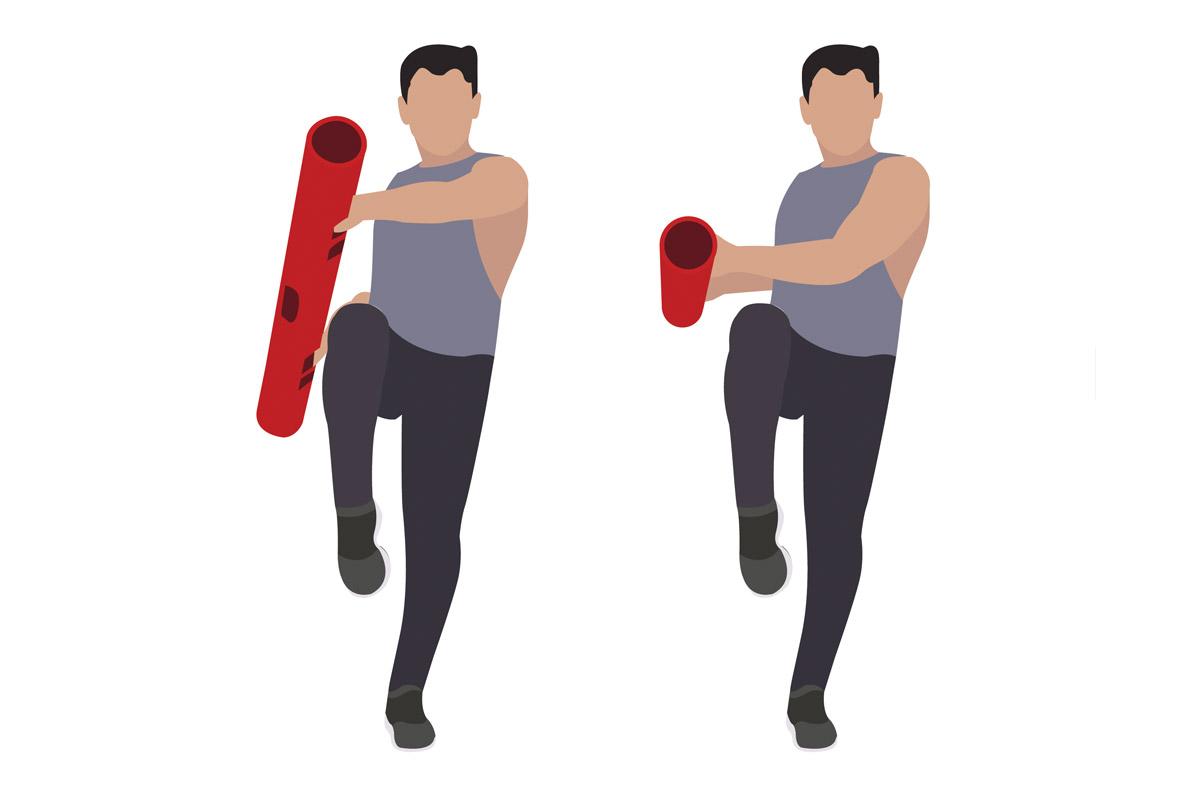 Упражнения с бодибаром —боковые махи