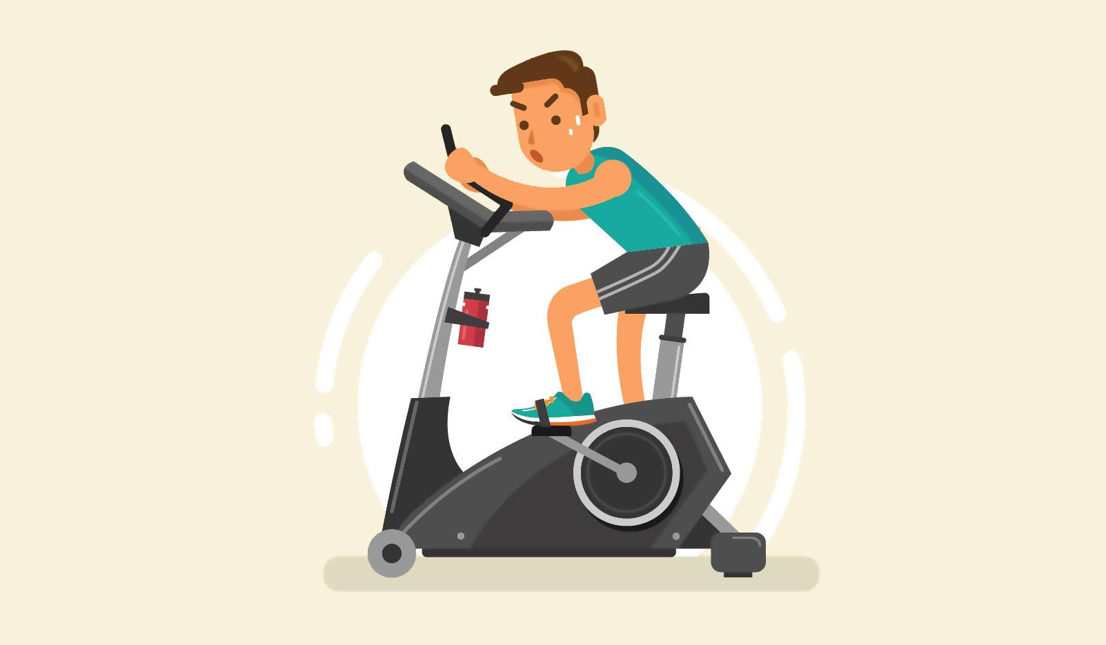 крутить велосипед для похудения дома