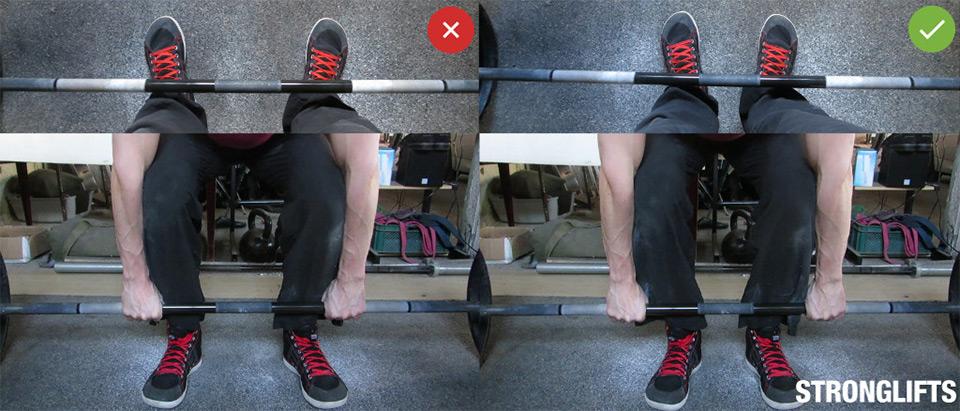 Становая тяга —техника упражнения. Подготовка.