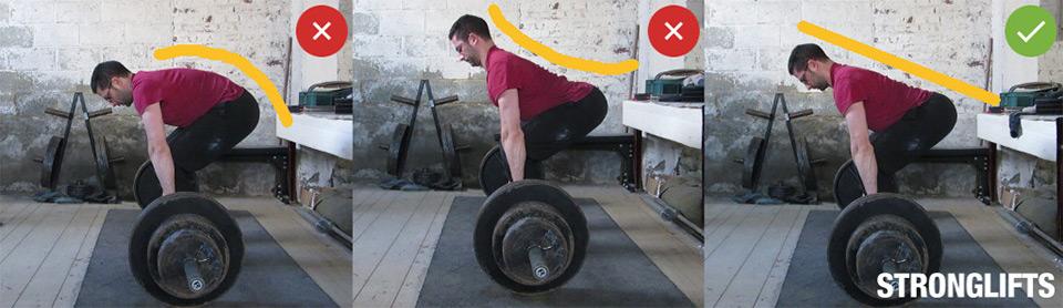 Становая тяга —техника упражнения. Исходное положение.