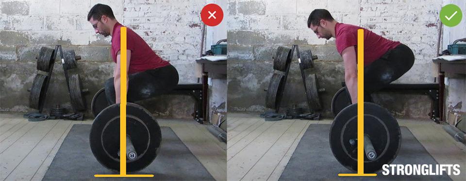 Становая тяга —техника упражнения. Проверка.